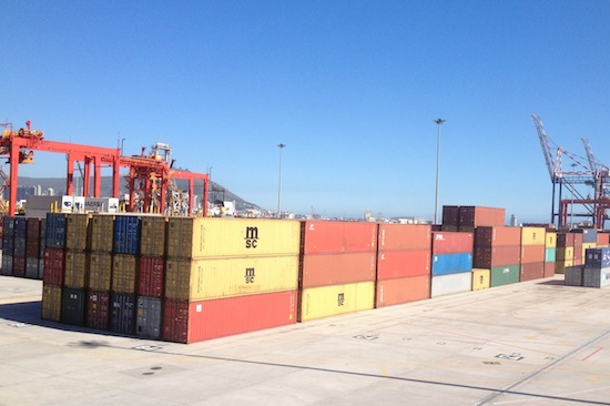 Containers at Cape Town Harbour